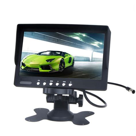 Monitor Lcd Hd eincar 7 inch tft lcd monitor color 2 input car rearview touch screen monitor dvd