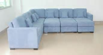 Light Blue Leather Sectional Sofa Baby Blue Sofa Thesofa