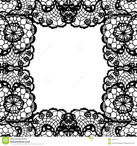 lace templates card vintage lace invitation card stock vector image 45306171