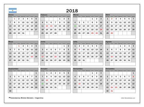 Argentina Calend 2018 Calendario Para Imprimir 2018 D 237 As Feriados En Argentina