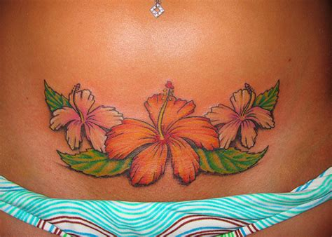flower stomach tattoo designs 13 beautiful hawaiian flower tattoos me now