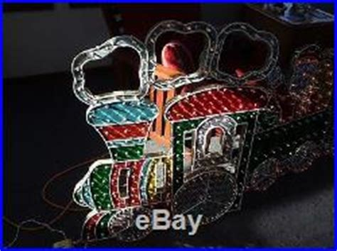 christmas outdoor halogrphic train decoration 4 holographic lighted motion set yard decoration 8 5 decor