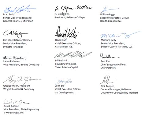 Offer Letter Signature Signatures