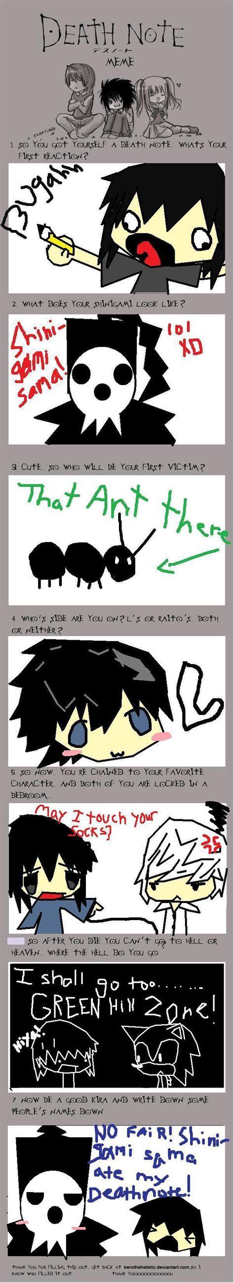 Death Note Meme - l death note funny memes