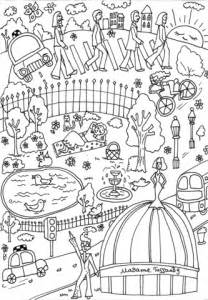 Madame Tussauds Museum coloring page | Free Printable