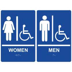 Bathroom Signs And Restroom Signs Ada Braille Signs