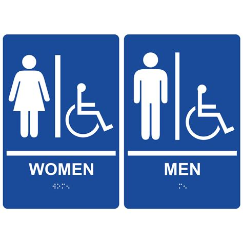 bathroom signages restroom signs ada braille signs