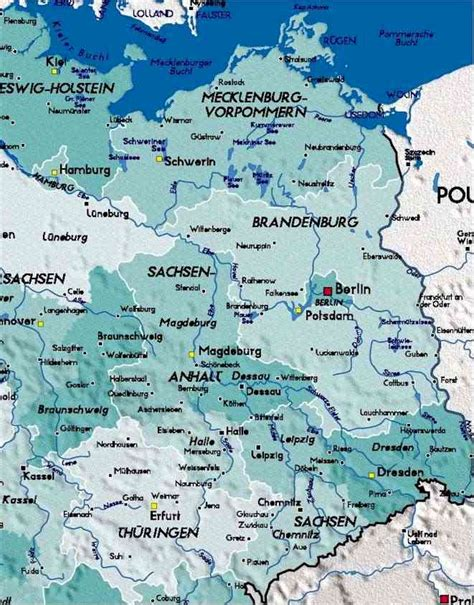 map of east germany eastern germany map