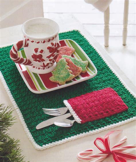 pattern christmas placemats crochet pattern christmas pocket place mat ebay