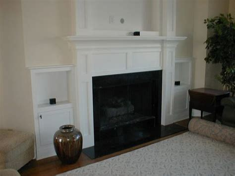 built in fireplace screens custom made built in fireplace mantle for flat screen tv side cabinets by norm s custom