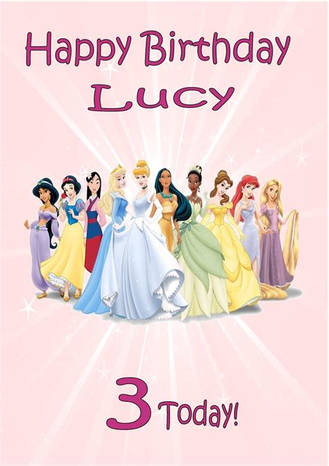 free disney birthday card template free printable disney princess cards