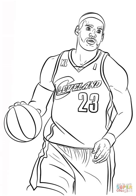 coloring pages for nba lebron james coloring page free printable coloring pages
