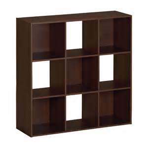 storage cube shelving ameriwood 9 cube storage shelf 7642015p 7642026p 7642207p