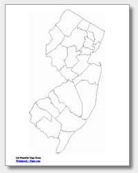printable map jersey printable new jersey maps state outline county cities