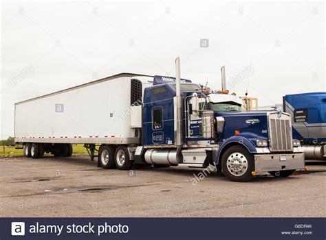 Classic Kenworth Semi Truck In The Usa Stock Photo