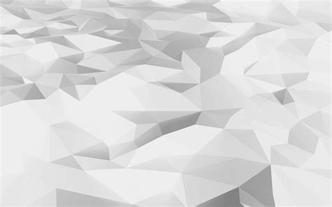 White Low Poly vj30 low poly white pattern papers co