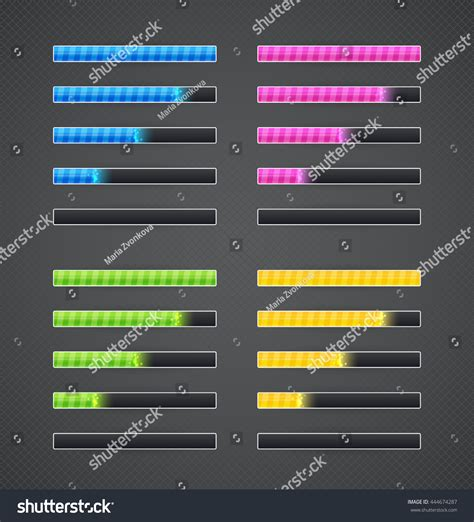 game design elements in vector from stock 7 25xeps rar game interface element collection resource energy stock