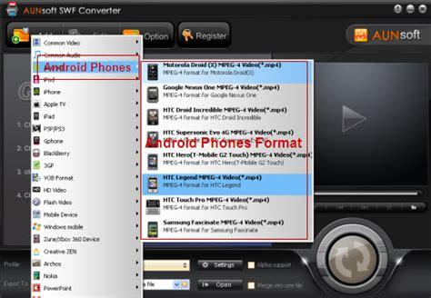 video file format supported by android swf converter supported ipad android phones free update