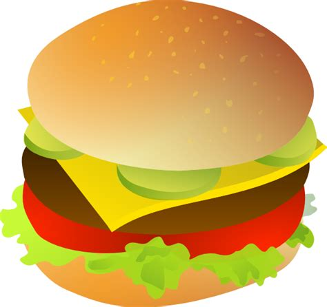 hamburger clipart cheese burger clip at clker vector clip