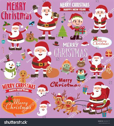 poster design kit vintage christmas poster design set stock vector 352250177