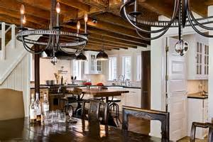 Dining Room Lights For Low Ceilings Farmhouse Kitchen Country Kitchen Crisp Architects