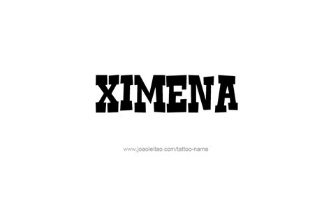 ximena name tattoo designs