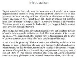 Introduction To A Book Report Introduction To Book Sample Pages