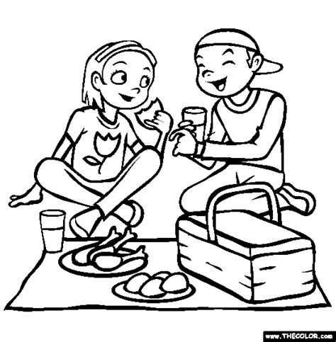 picnic coloring pages preschool preschool picnic coloring pages www pixshark com
