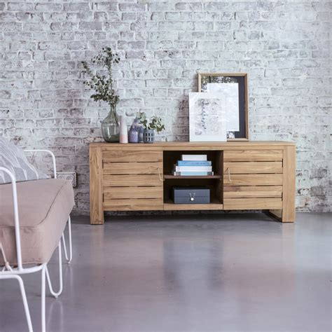 meubles tv vente meuble pour tele en teck meubles tv minimalys chez tikamoon