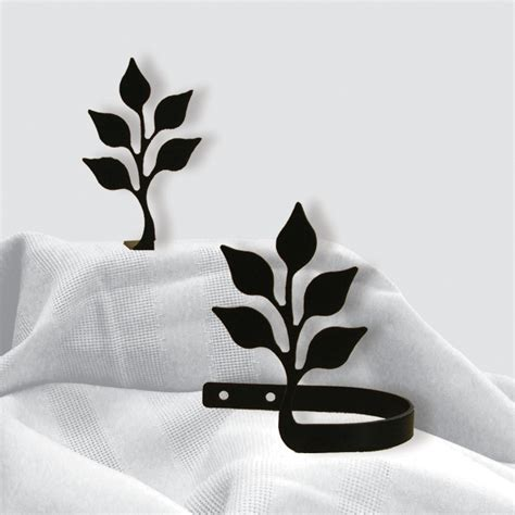 leaf curtain tie backs wrought iron curtain tie backs pair of 2 leaf silhouette
