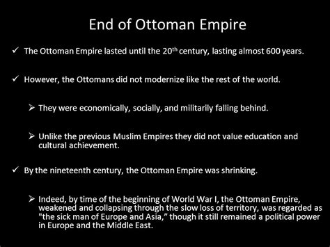 When Did Ottoman Empire End The Ottoman Empire And The Interwar Period Ppt