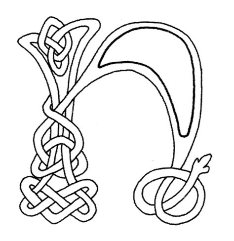 celtic letter coloring page free celtic knot letters coloring pages