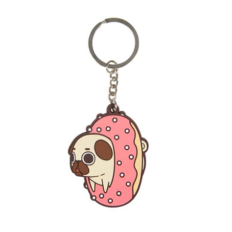for fans by fans puglie pug donut keychain