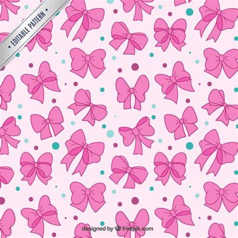 pink pattern free download pink bows pattern vector free download