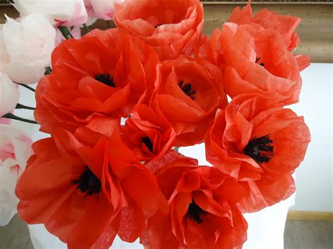 How To Make Poppies Out Of Tissue Paper - paper flowers colleen s creations