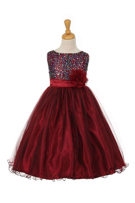 Bg 57 Dress flower dresses burgundy color bridesmaid dresses