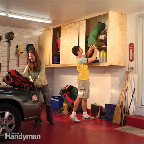 install cabinets like a pro the family handyman installing large garage cabinets the family handyman