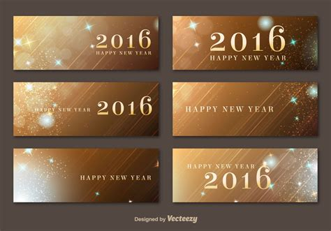 happy new year 2016 banner happy new year 2016 golden banners free vector