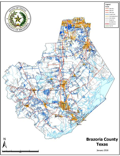 county map brazoria county tx