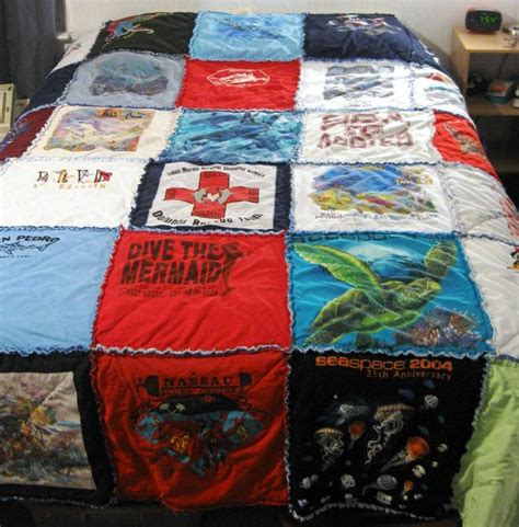 Rag T Shirt Quilt by Pin By Vaughan On Nifty Gifties