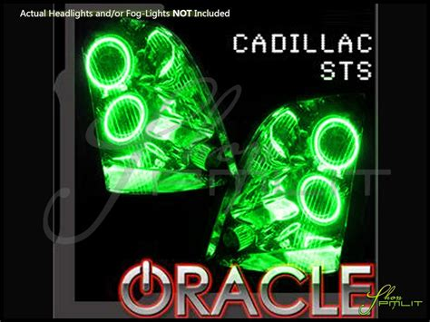 green light auto parts oracle 08 11 cadillac sts plasma halo rings headlights bulbs