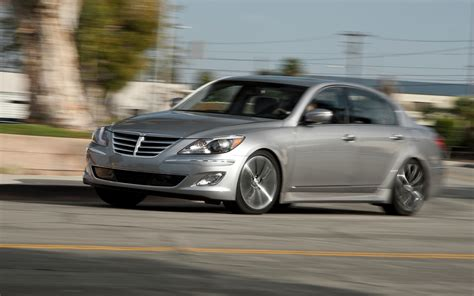 hyundai genesis r spec 2012 hyundai genesis 5 0 r spec front left side view photo 1