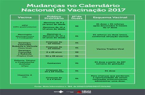 Calend Nacional De Vacina O 2017 Calend 225 De Vacina 231 227 O 233 Liado Para Uma Parcela Maior