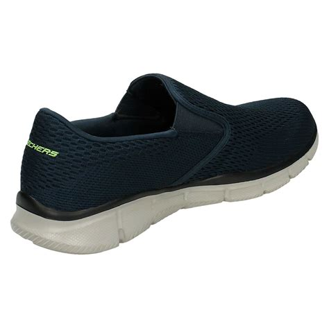 skechers slip on athletic shoes mens skechers memory foam slip on walking shoes