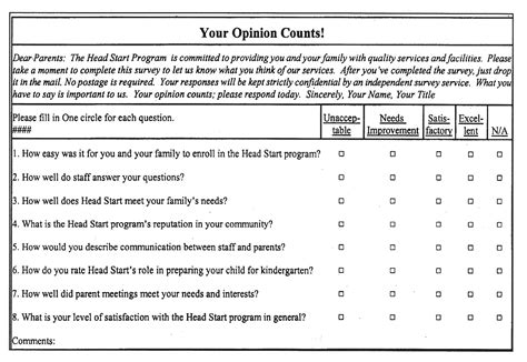 Survey Exles - sle survey questionnaire template