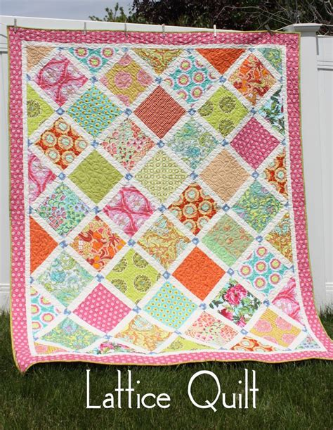 Lattice Quilt Pattern Free by This Lattice Quilt Is Fast And Impressive Quilting Digest