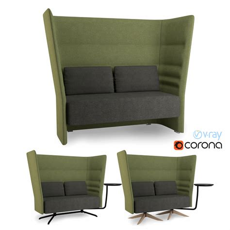 high back settee keoki 3d high back settee with arms high back sofa 3d max