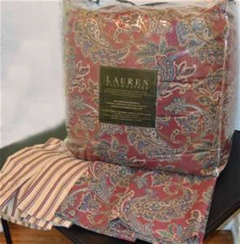 discontinued ralph lauren paisley bedding ralph lauren allan rustic red paisley king comforter set
