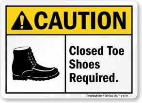 closed toe shoes science