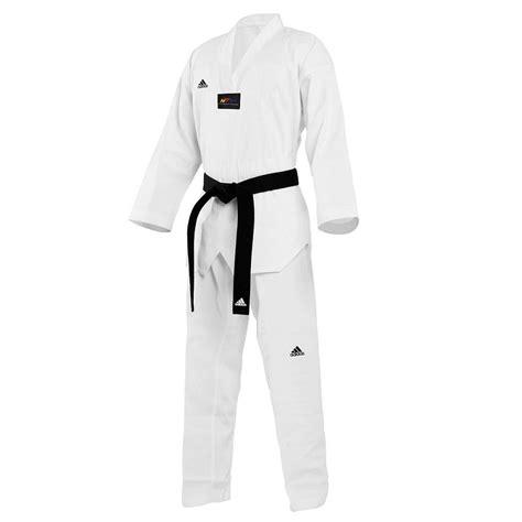 Empro Dobok Taekwondo Pemula 130 140 150 160 dobok taekwondo adidas col blanc